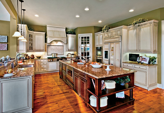 How to Paint Wood Paneling Kitchen Traditional with Built in Double Oven
