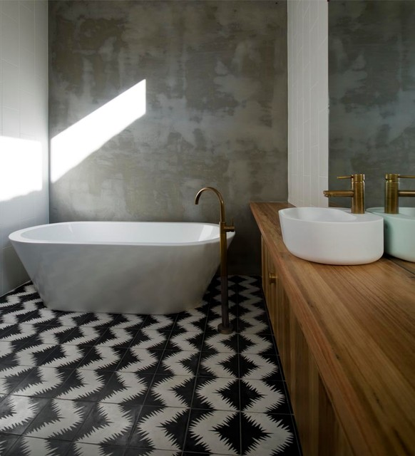 How to Seal Grout Bathroom Contemporary with Aged Brass Black And