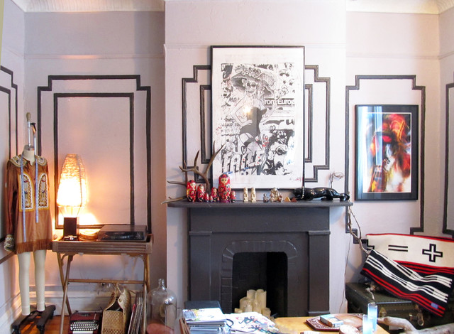 How to Whitewash Brick Living Room Eclectic with Boho Brooklyn Gretchen Jones