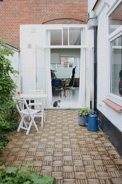 How to Whitewash Brick Patio Scandinavian with Glass Door Red Brick2