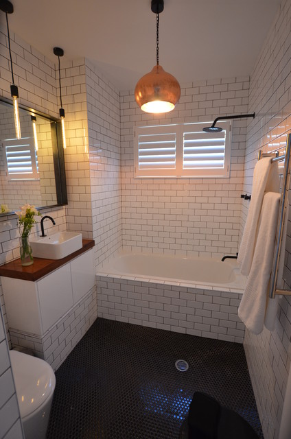 Hubbardton Forge Lighting Bathroom Contemporary with Bathroom Countertops Bathroom Floor