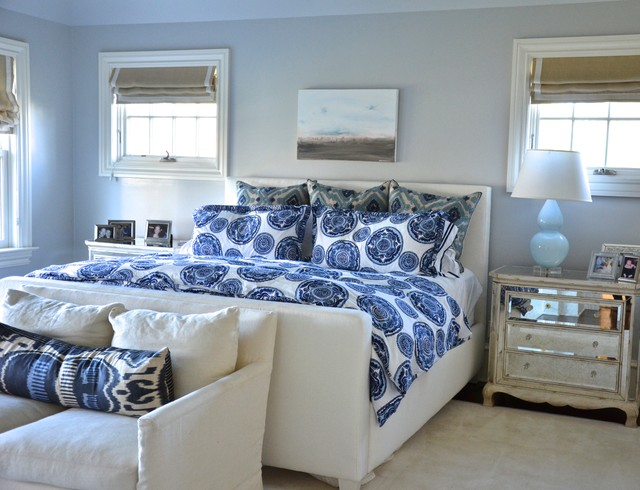 Ikat Bedding Bedroom Eclectic with Airy Area Rug Beachy
