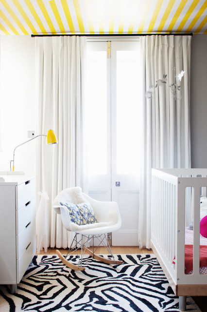 Ikea Baby Cribs Nursery Contemporary with Bunny Mobile Ceiling Wallpaper
