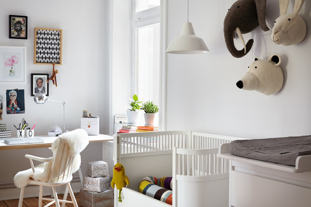 Ikea Baby Cribs Nursery Scandinavian with Framed Art Gallery Wall