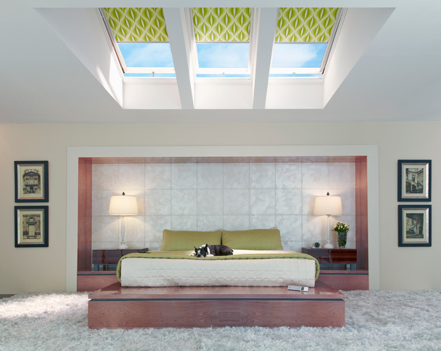 Ikea Blinds Bedroom Contemporary with Fresh Air Skylights Skylight