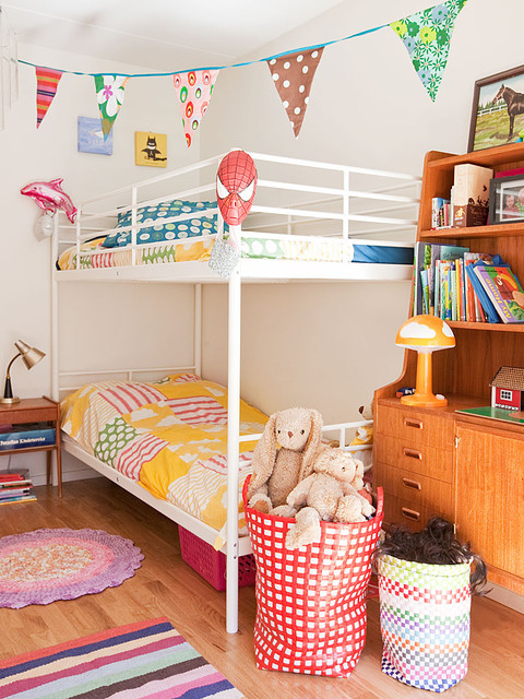 Ikea Bunk Beds Kids Scandinavian with Area Rugs Bedside Table