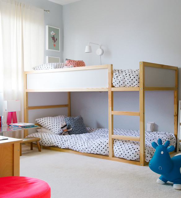 ikea bunk beds Kids Transitional with beige carpet bouncy toy