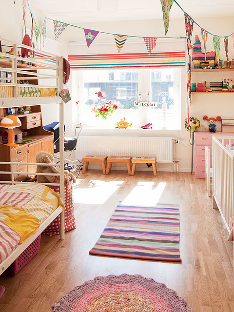 Ikea Childrens Beds Kids Scandinavian with Area Rugs Banners Bunk1