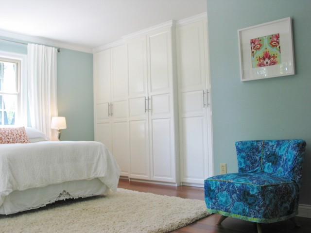 ikea closet systems Bedroom Eclectic with blue Blue Shamrock Olympic