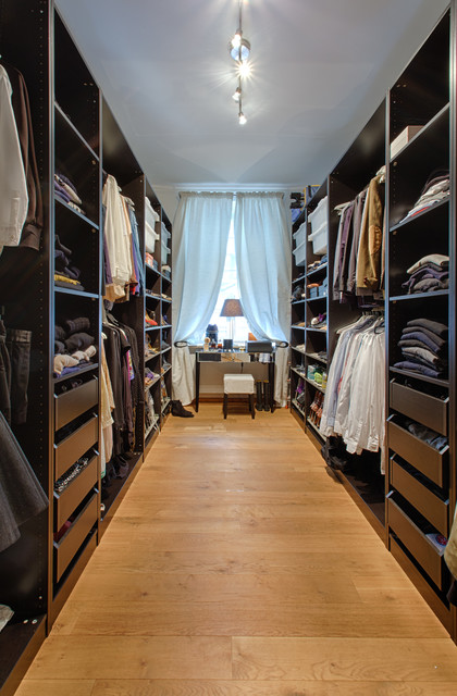 ikea closet systems Closet Contemporary with Eichendielen HomeStory houzz Ikea