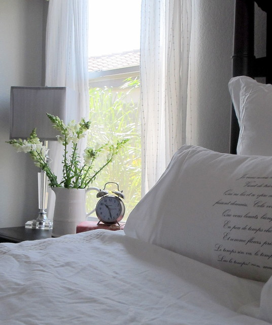 Ikea Comforter Bedroom Shabby Chic with Alarm Clock Bedside Table