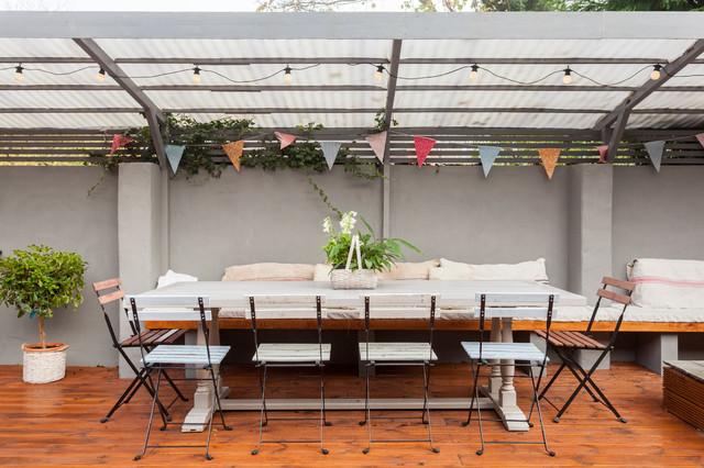 Ikea Comforter Patio Farmhouse with Bistro Chairs Bistro Lights