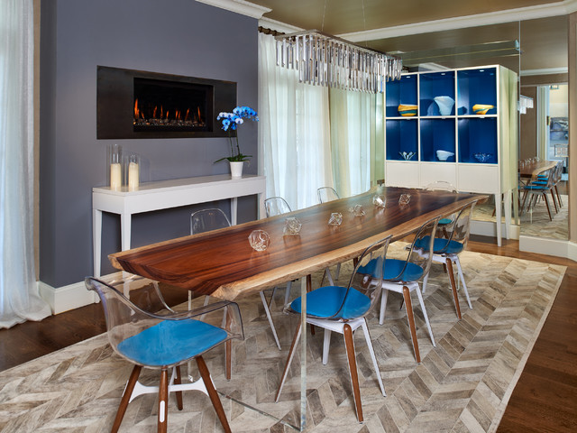 Ikea Cowhide Rug Dining Room Contemporary with Acrylic Furniture Blue Blue