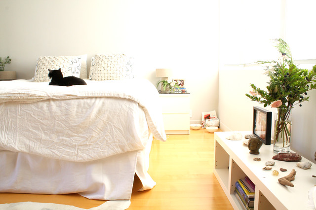 ikea duvets Bedroom Midcentury with My Houzz