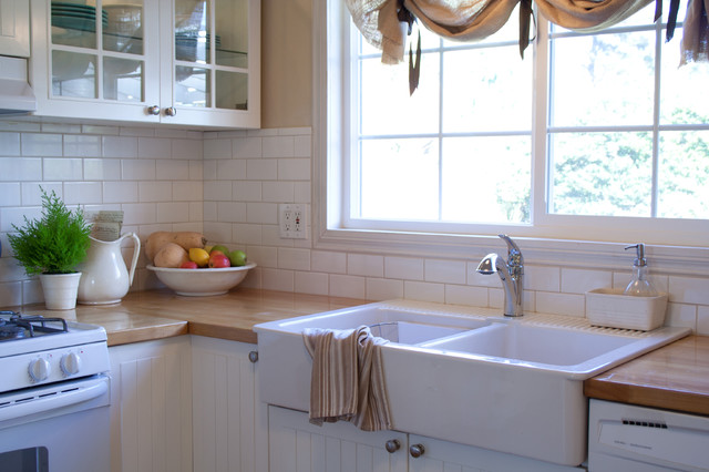 Ikea Farm Sink Kitchen Traditional with Apron Sink Butcher Block