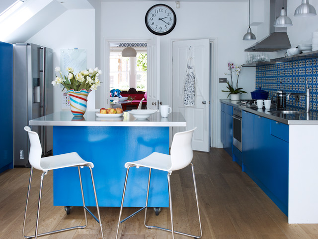 ikea file cabinet Kitchen Contemporary with bar stools blue and