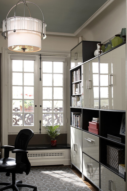 Ikea Filing Cabinet Home Office Contemporary with Area Rug Bookcase Bookshelves