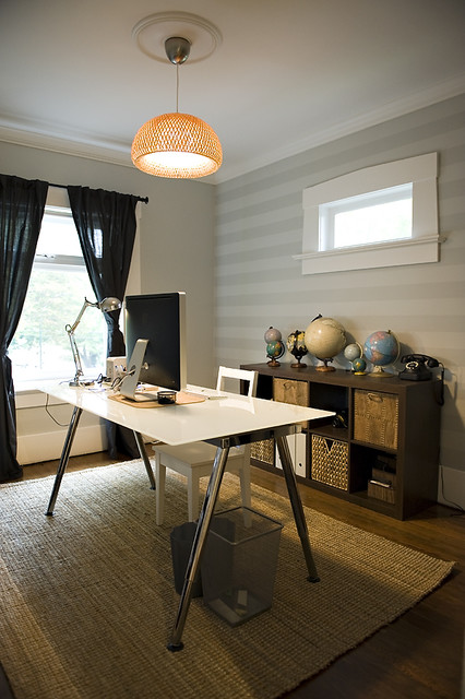 Ikea Galant Home Office Eclectic with Etsy Studio