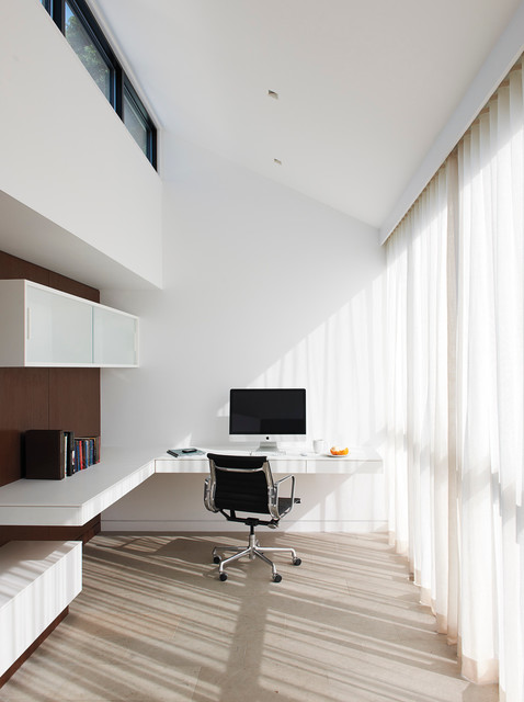 Ikea Galant Home Office Modern with Clerestory Windows Floating Cabinet