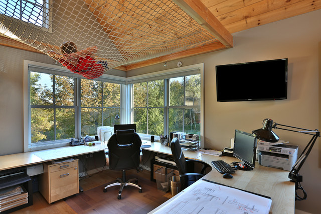Ikea Galant Home Office Transitional with Architects Studio Beige Wall