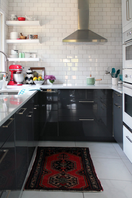 ikea kitchen cabinets reviews Kitchen Midcentury with antique black color contemporary