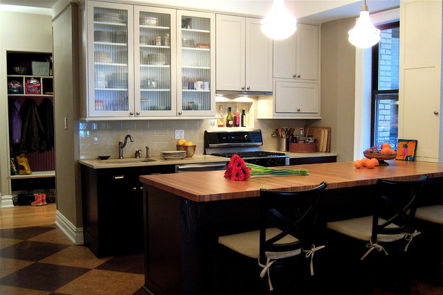 Ikea Kitchen Cabinets Reviews Kitchen Traditional with Bamboo Counter Bar Stools1