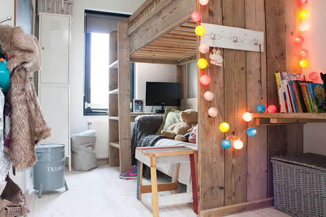 ikea kura bed Kids Eclectic with bunk bed colorful lights