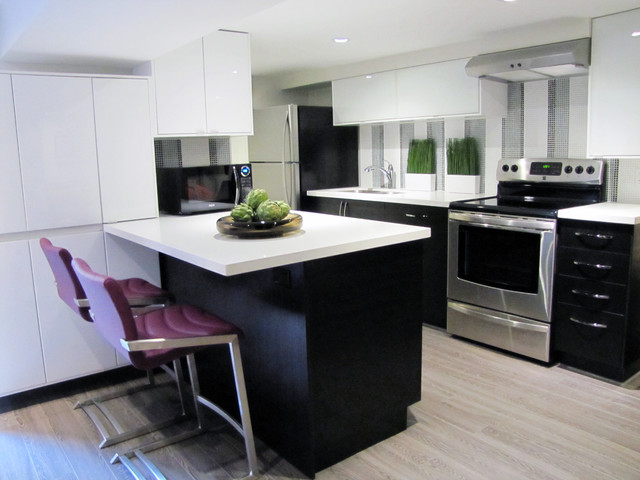 Ikea Laminate Flooring Kitchen Modern with All White Kitchen Backsplash