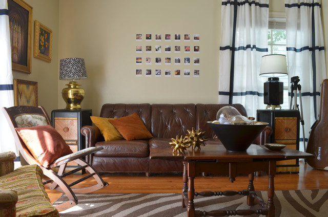 Ikea Lampshades Living Room Eclectic with Antique Area Rug Art