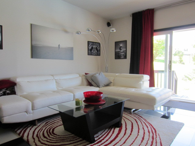 ikea leather couch Family Room Contemporary with black and red black