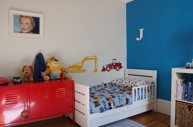 Ikea Lockers Kids Contemporary with Accent Wall Baseboards Bedroom
