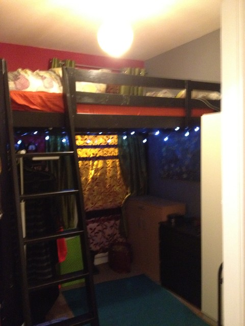 Ikea Mattresses Bedroom Eclectic with Bright Colors High Cielings7