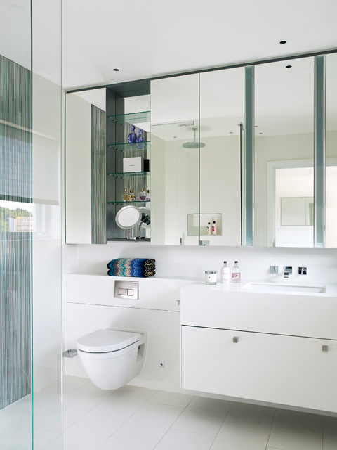 Ikea Medicine Cabinet Bathroom Contemporary with Bright White Bathroom Floating