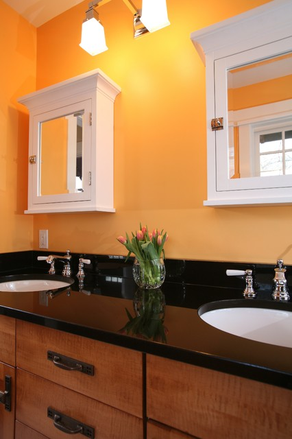 Ikea Medicine Cabinet Bathroom Traditional with Black Counter Doubl Sink