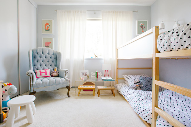 Ikea Metal Bed Frame Kids Transitional with My Houzz