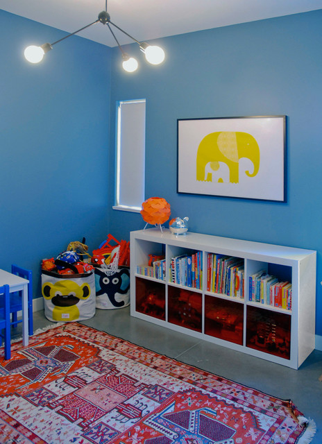 ikea pendant light Kids Contemporary with blue walls elephant Expedit