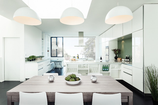 Ikea Pendant Light Kitchen Contemporary with Airy Black Tiled Floor