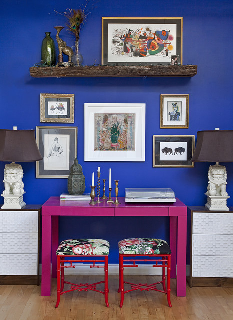 Ikea Rast Home Office Eclectic with Art Blue Paint Blue