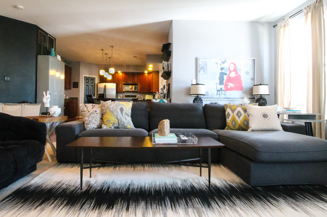 Ikea Sectional Sofa Living Room Eclectic with My Houzz 4