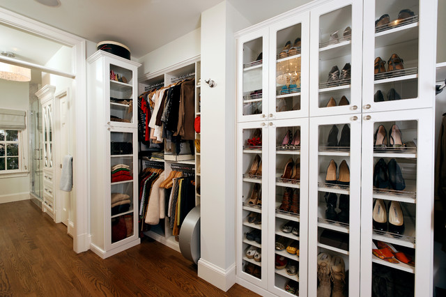 Ikea Shoe Storage Closet Traditional with Glass Front Cabinets Organization