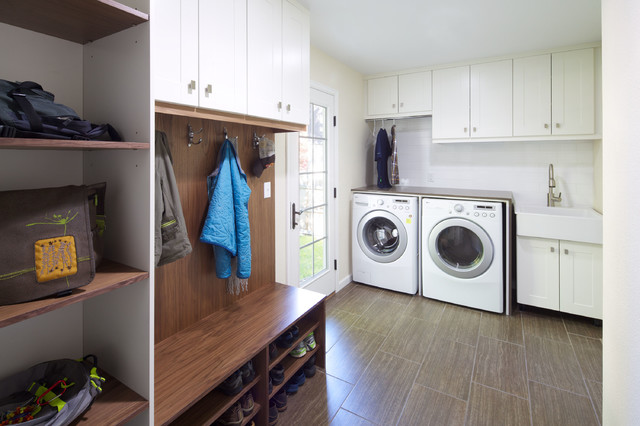 Ikea Shoe Storage Laundry Room Contemporary with Apron Sink Beige Wall