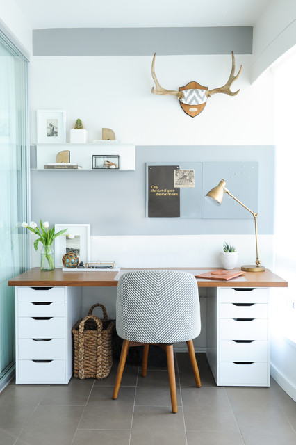 Ikea Standing Desk Home Office Transitional with Condo Gold Grey And