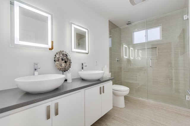 Ikea Vanities Bathroom Contemporary with Bath Tub Bathroom Flooring