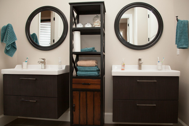 Ikea Vanities Bathroom Transitional with My Houzz