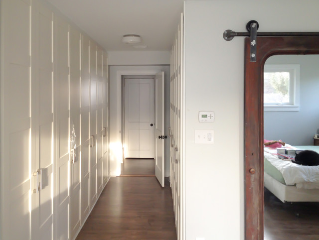 Ikea Wardrobe Closet Hall Traditional with Barn Door Corridor Hallway3