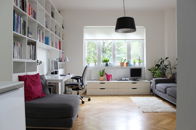 Ikea Window Treatments Home Office Contemporary with Black Pendant Light Book