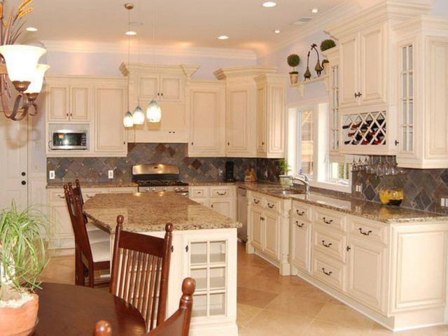 Ikea Wine Rack Spaces Traditional with Antique White Cabinets And4