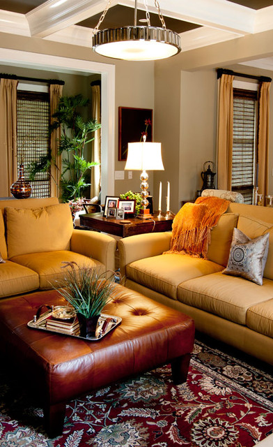 inexpensive couches Family Room Eclectic with chrome gold leather neutral