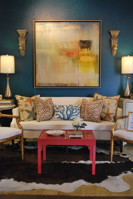 Inexpensive Sofas Living Room Eclectic with Accent Colors Animal Hide