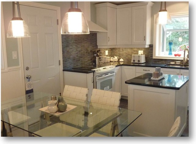 Jarvis Appliance Kitchen Traditional with a Glass Table Black
